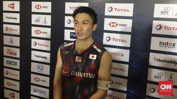 Kento Momota saat tampil di Piala Thomas. (