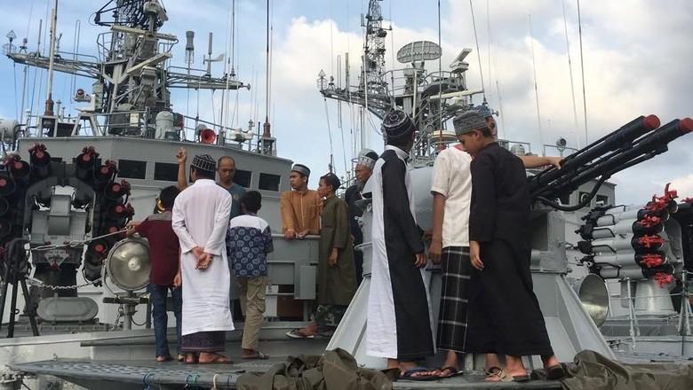Ngabuburit di Kapal Perang di Sabang (dok Lanal Sabang)