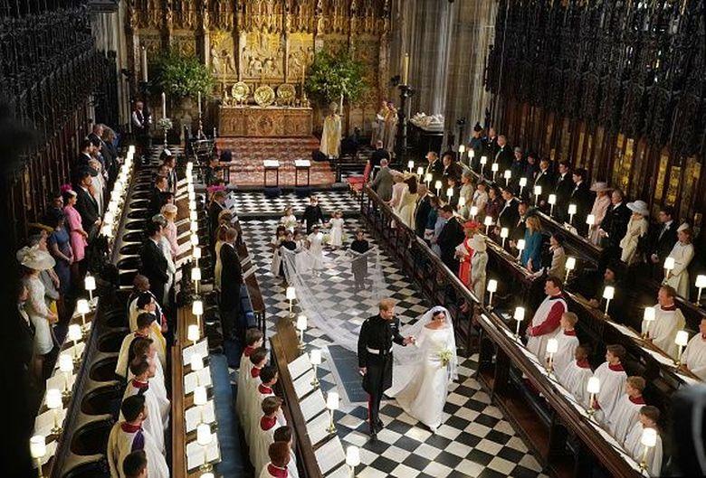 Putri Charlotte mencuri perhatian di pernikahan Pangeran Harry dan Meghan Markle. WPA Pool/Getty Images