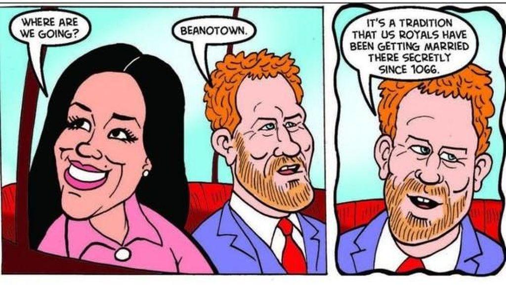 Komikus Beano Bikin Strip Satir soal Pernikahan Pangeran Harry