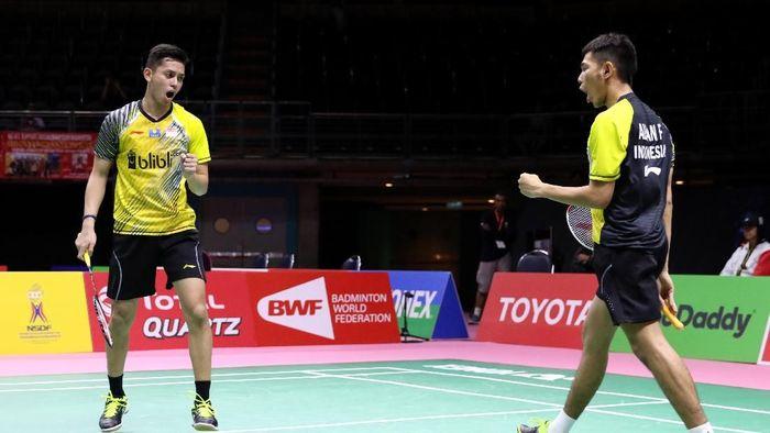 Fajar Alfian/Muhammad Rian Ardianto memastikan langkah Indonesia ke perempatfinal Piala Thomas 2018 (Foto: dok. Humas PBSI)