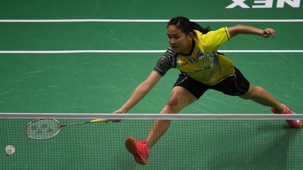 Ruselli Hartawan kalah di pertandingan kelima saat Indonesia menghadapi Thailand.