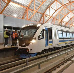 Sukses Uji Coba, Kereta LRT Palembang Melaju 35 Km/Jam