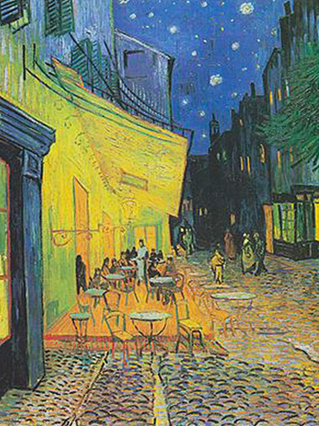 Adalah seniman bernama Yulia Pidlubnyak yang mereka ulang lukisan legendaris menjadi seperti nyata gaya 3 dimensi. Ini adalah lukisan Cafe Terrace At Night oleh Vincent Van Gogh. Foto: boredpanda