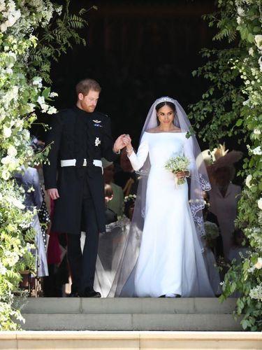 Pangeran Harry dan Meghan Markle di hari pernikahannya. (Foto: Getty Images)