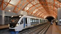 Diuji Coba, Kereta LRT Palembang Mulus Melintas di Atas Rel