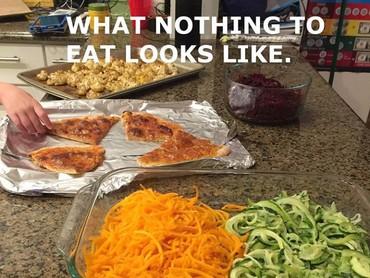 Sayuran sudah disiapkan. Tapi saat makan malah sayuran nggak disentuh, dan anak memilih makanan lainnya. Siapa yang mengalami hal ini juga? (Foto: Instagram @reneecharytan)