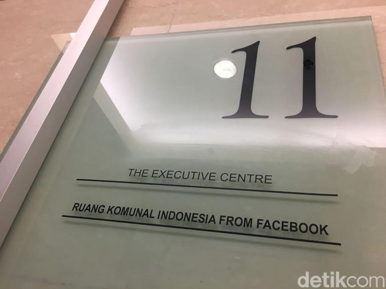 Ruang Komunal atau tempat berkumpul ala Facebook ini berada di lantai 11 Gedung One Pacific Place, Kawasan SCBD, Jakarta. Foto: detikINET/Agus Tri Haryanto
