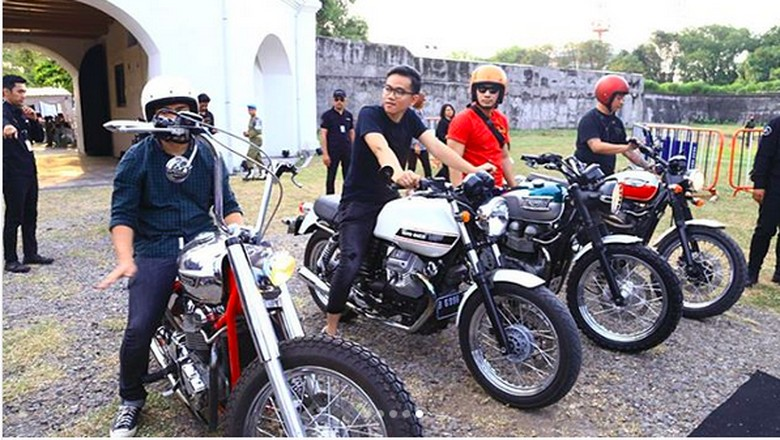 Motor modifikasi Gibran Rakabuming Raka Foto: Instagram/chillipari