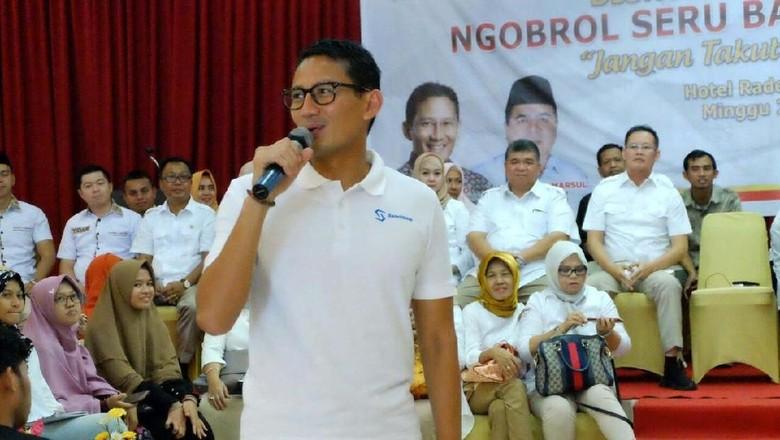 Sandiaga akan Doakan Prabowo dan Jokowi Saat Umrah