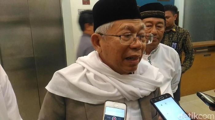 Maruf Amin masih tetap bugar di usia 75 tahun. Foto: Ketum MUI KH Maruf Amin. (Wildan-detikcom)
