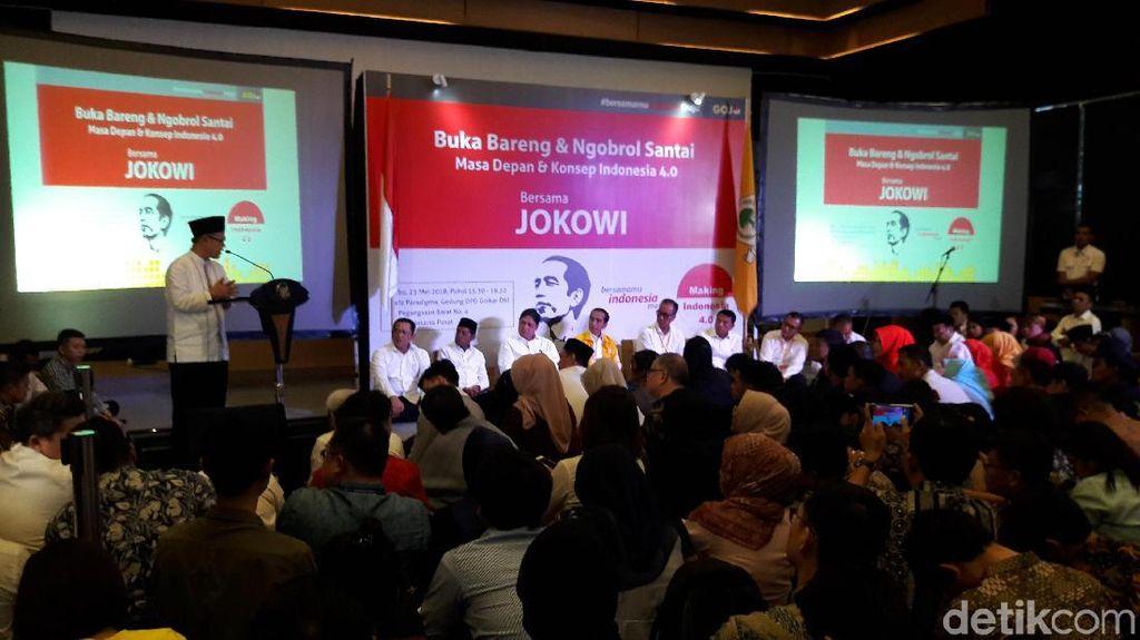 Buka Puasa Bareng Relawan, Jokowi Bicara Revolusi Industri 4.0