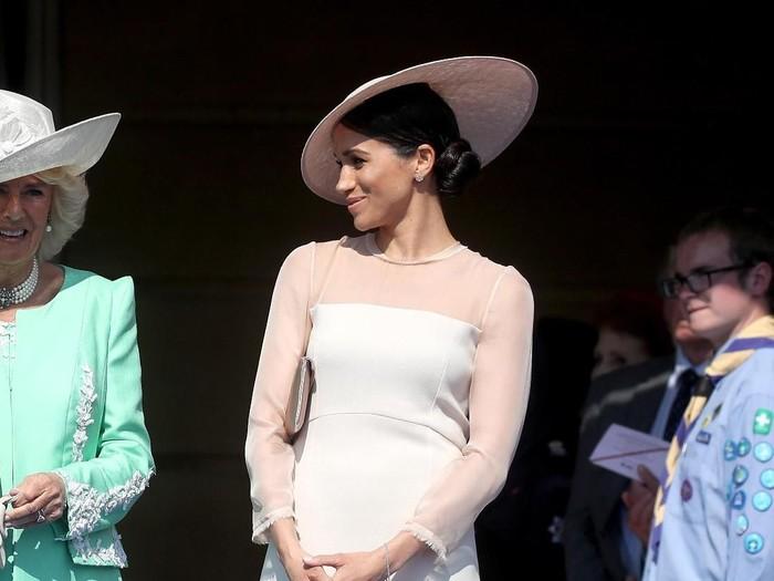 Meghan Markle di perayaan ulang tahun Pangeran Charles ke-70. Foto: Chris Jackson/Getty Images
