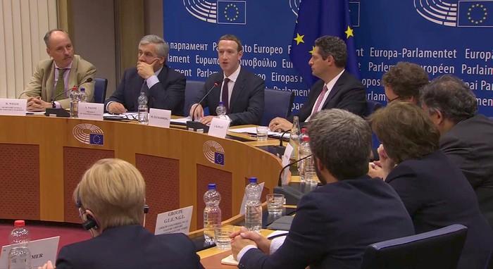 Zuckerberg menghadap parlemen Eropa. Foto: Reuters