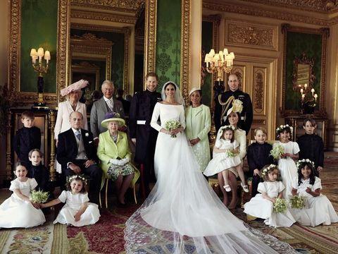 Meghan Markle dan Pangeran Harry bersama para anggota keluarga Kerajaan Inggris.