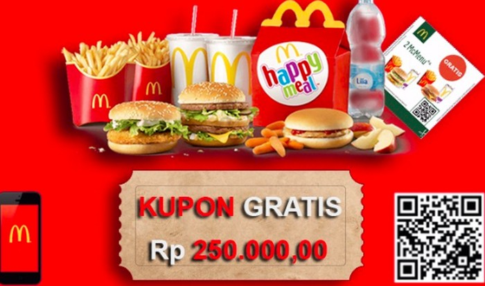 Voucher hoax McDonalds. Foto: istimewa