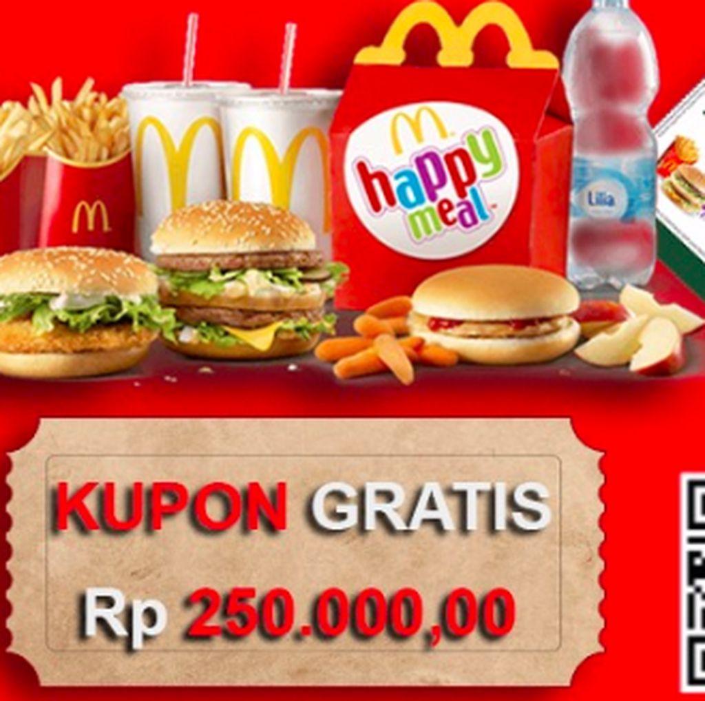 Kata McDonalds Soal Heboh Voucher Gratis yang Viral di WhatsApp