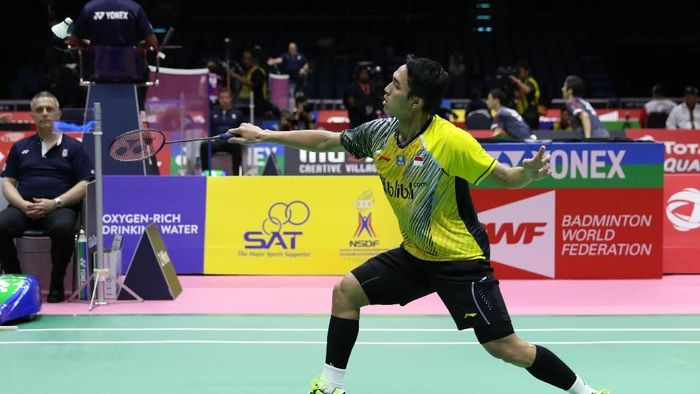 Pemain tunggal putra Indonesia, Jonatan Christie. (Foto: dok. Humas PBSI)