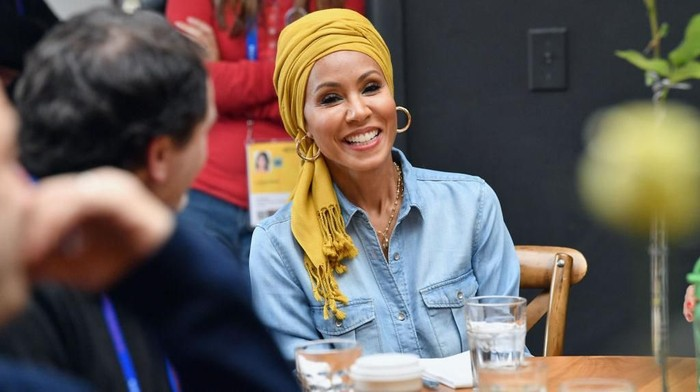 PARK CITY, UT - JANUARY 19:  Actress Jada Pinkett Smith attends the Feature Film Jury Orientation Breakfast during the 2018 Sundance Film Festival at Cafe Terigo on January 19, 2018 in Park City, Utah.  (Photo by Dia Dipasupil/Getty Images)
