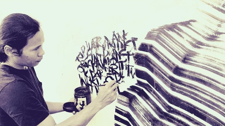 Farhan Siki Gelar Pameran Tunggal M A L di galerikertas Studio Hanafi