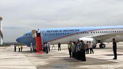 Mendarat di Bandara Kertajati, Pesawat Kepresidenan Disiram Air