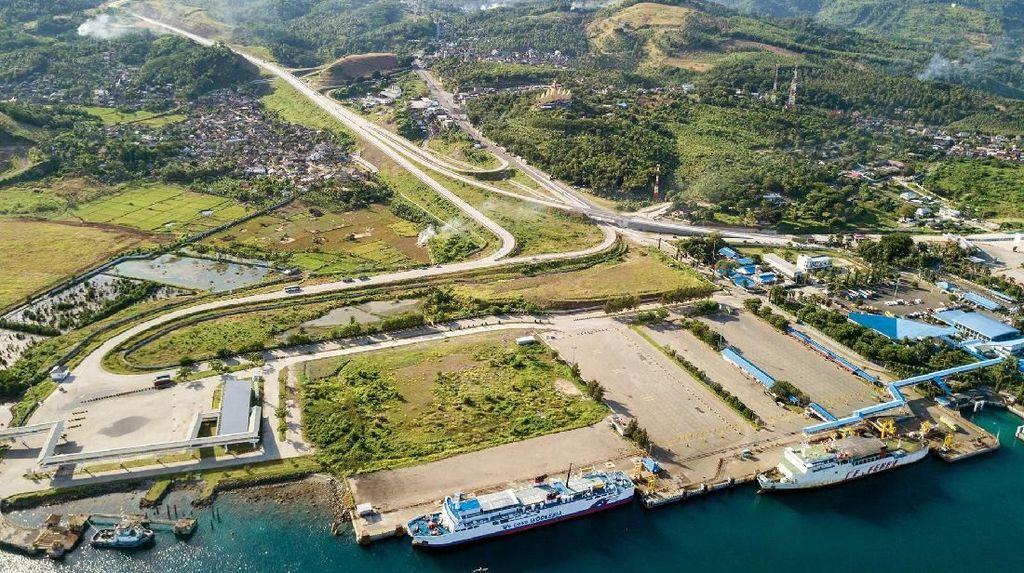 Bikin Takjub! Indahnya Tol Pertama Lampung dari Udara
