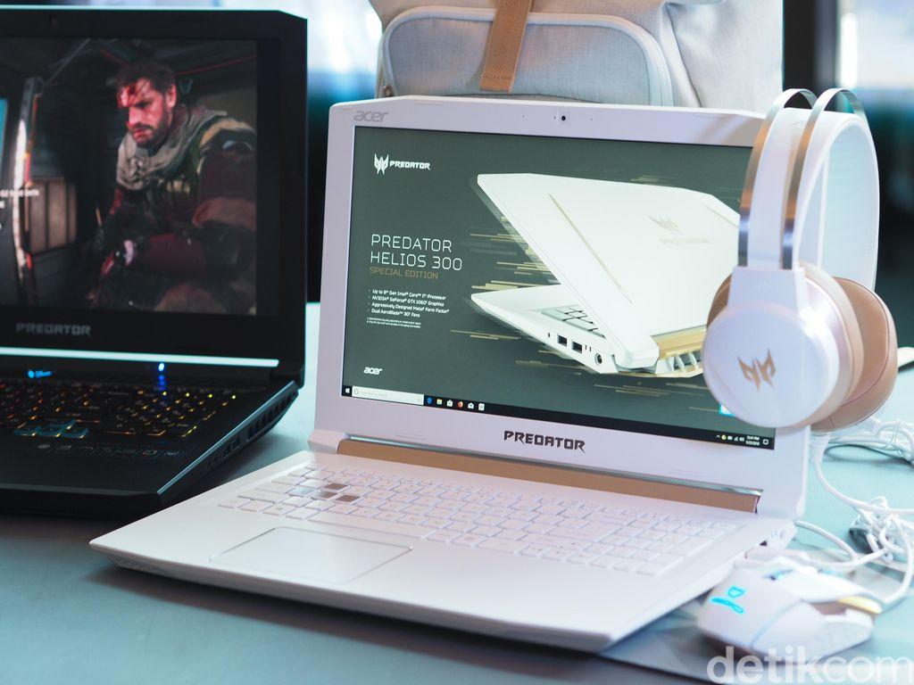 Predator Helios 300 Spesial Edition ini baru saja diluncurkan Acer di Global Press Conference di New York, Amerika Serikat pada Rabu (28/5) Foto: detikINET/Septiana Ledysia
