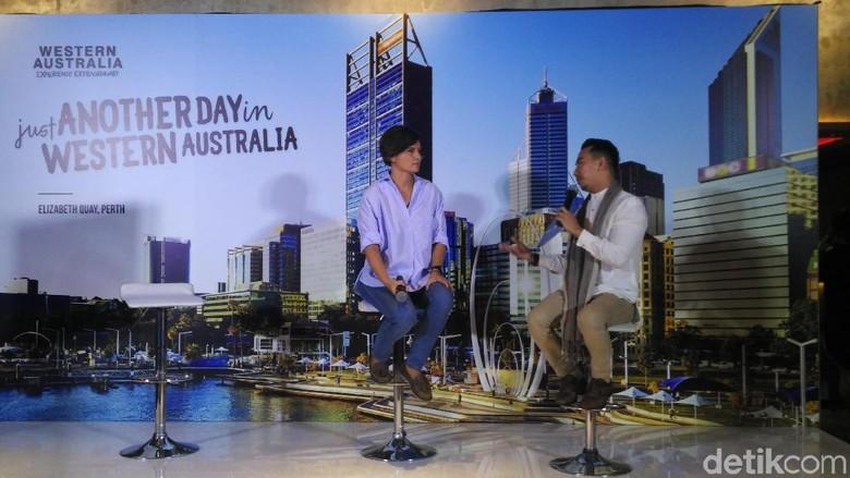 Foto:  Gemala Hanafiah di acara Buka Bersama Western Australia (Wahyu/detikTravel)