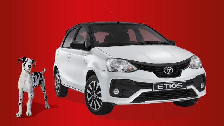 Toyota Etios di Afsel Foto: dok. indianautosblog