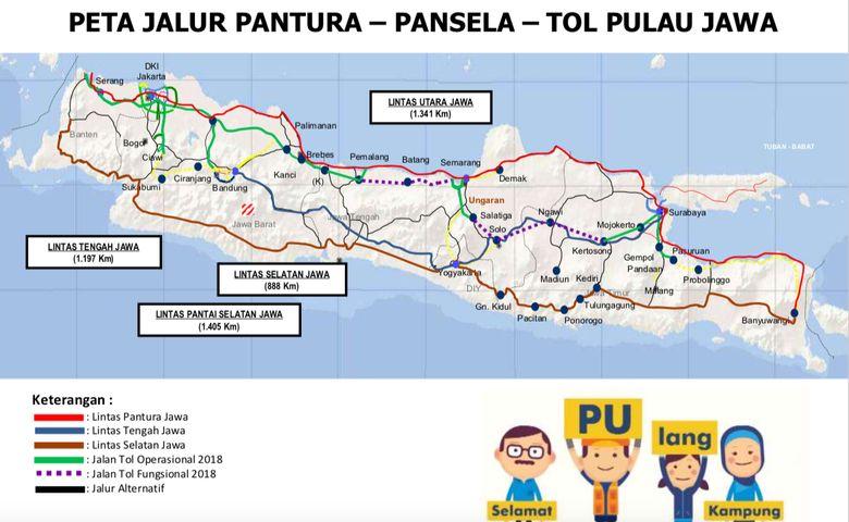 Simpan Nih Peta Jalur Mudik 2018 Jawa Gambar Surabaya Bali
