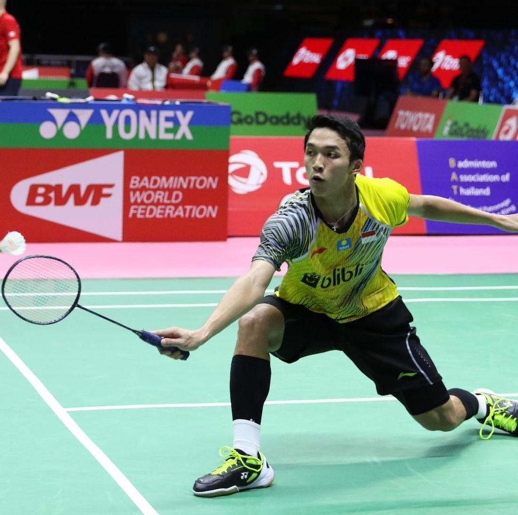 Jonatan Dikalahkan Shi Yuqi, Indonesia Tertinggal 1-2 dari China