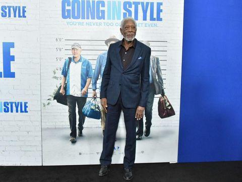 Aktor Morgan Freeman di premier film 'Going in Style