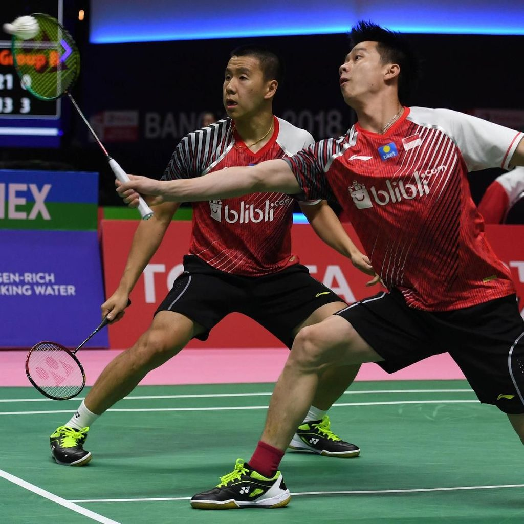 Kevin/Marcus Menang, Indonesia Imbangi China 1-1