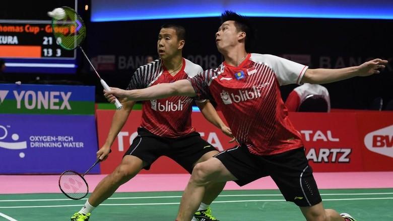 Kevin/Marcus Menang, Indonesia Imbangi China 1-1