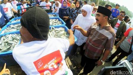 Khofifah Ingin Bangun Pabrik Pelelangan Ikan di Sendangbiru