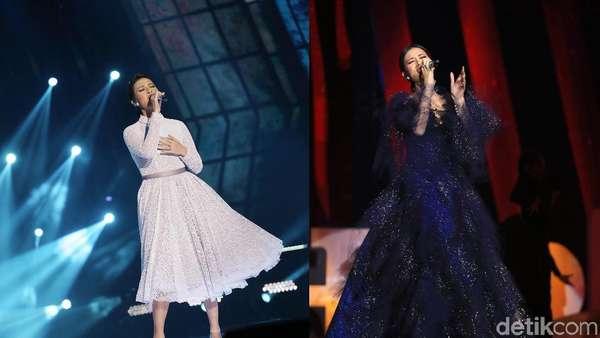 Pilih Mana? Raisa dengan Dress Hitam atau Putih?
