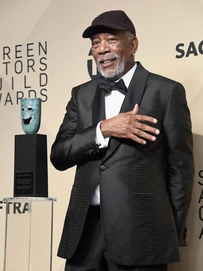 Morgan Freeman dituduh melakukan pelecehan seksual terhadap sejumlah perempuan. (Foto: Getty Images)