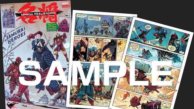Uniknya Superhero Avengers Jadi Bersamurai di Manga Ini