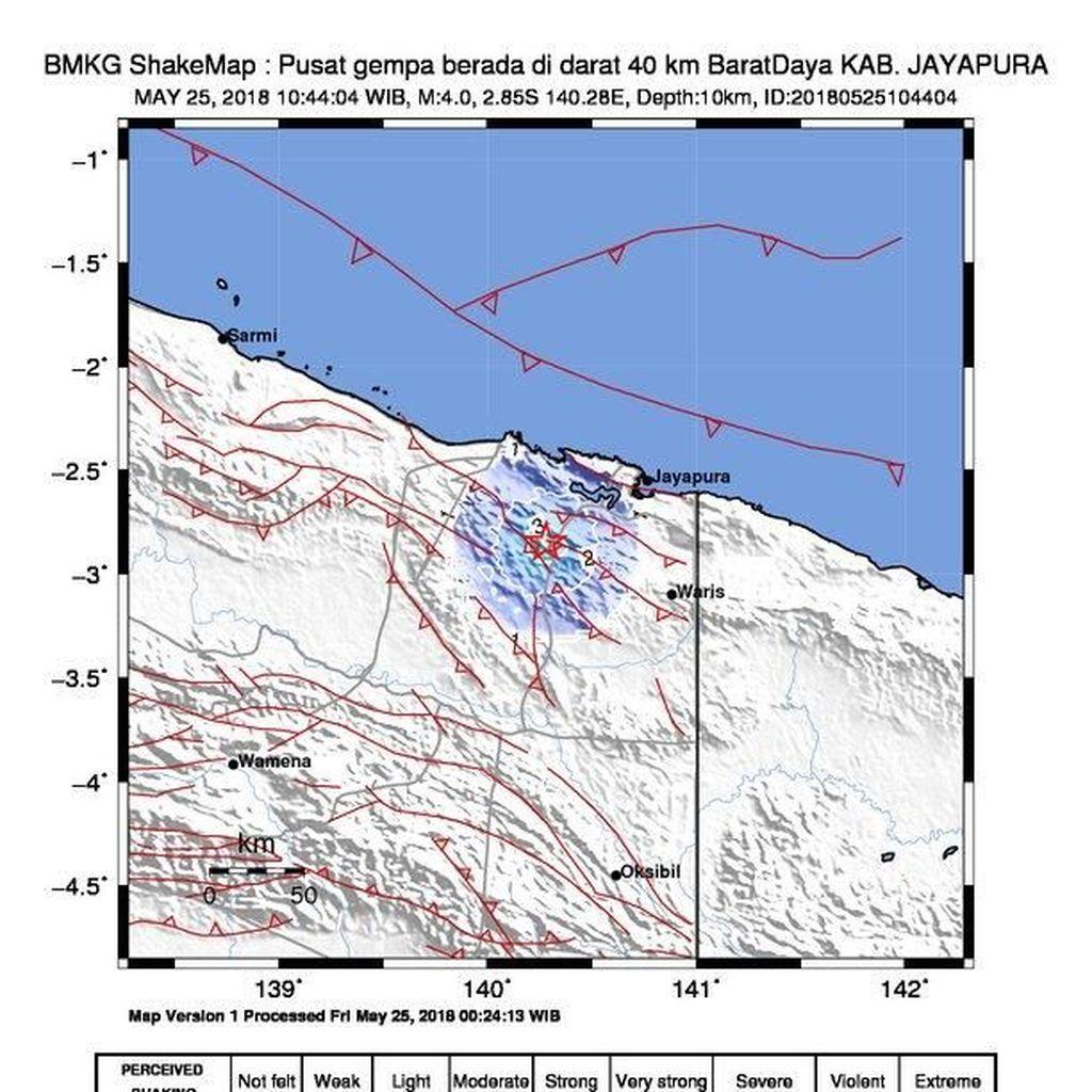 Gempa 4 SR Guncang Jayapura
