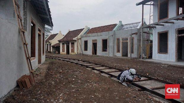 Rumah toko pun dibangun di lokasi syuting.