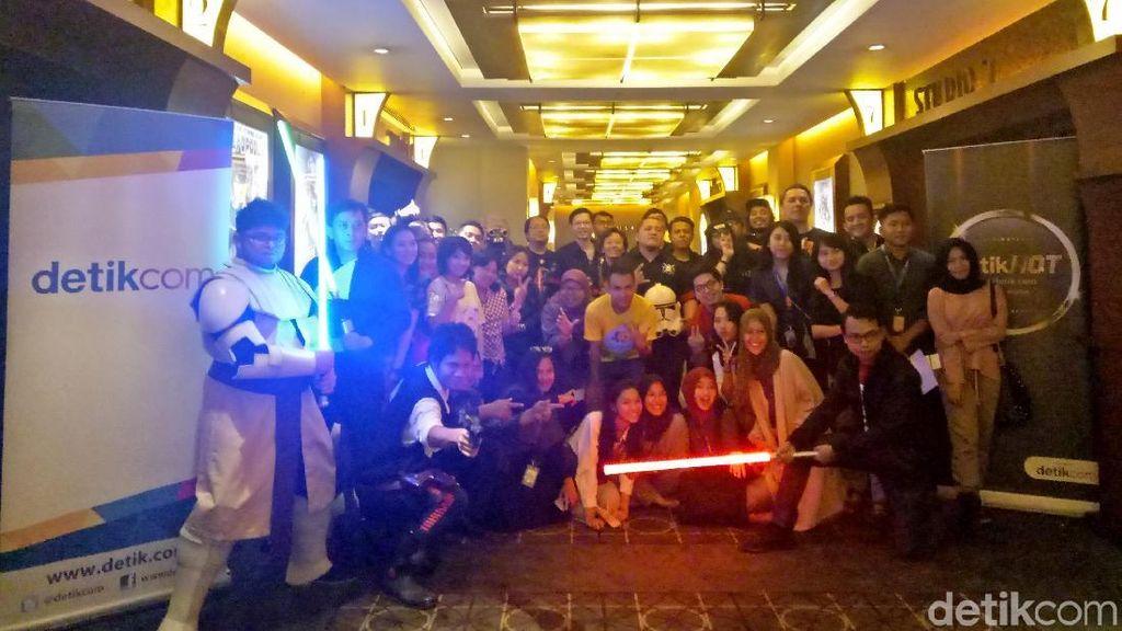 Penggemar Star Wars Gunakan Kostum Han Solo di Nobar Solo: A Star Wars Story