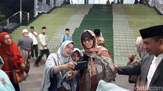 Menteri Keuangan Sri Mulyani Indrawati di Ponpes Gontor