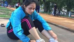Gaya Olahraga Ismi Aisyah, Polwan Cantik yang Sempat Viral