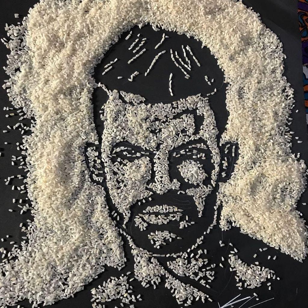 Keren! Ini 10 Rice Art Berbentuk Wajah Bob Marley hingga Monalisa