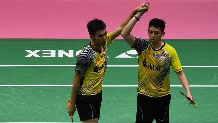 Fajar Alfian/Muhammad Rian Ardianto lolos ke babak kedua Malaysia Terbuka. (Foto: Puspa Perwitasari/ANTARA FOTO)