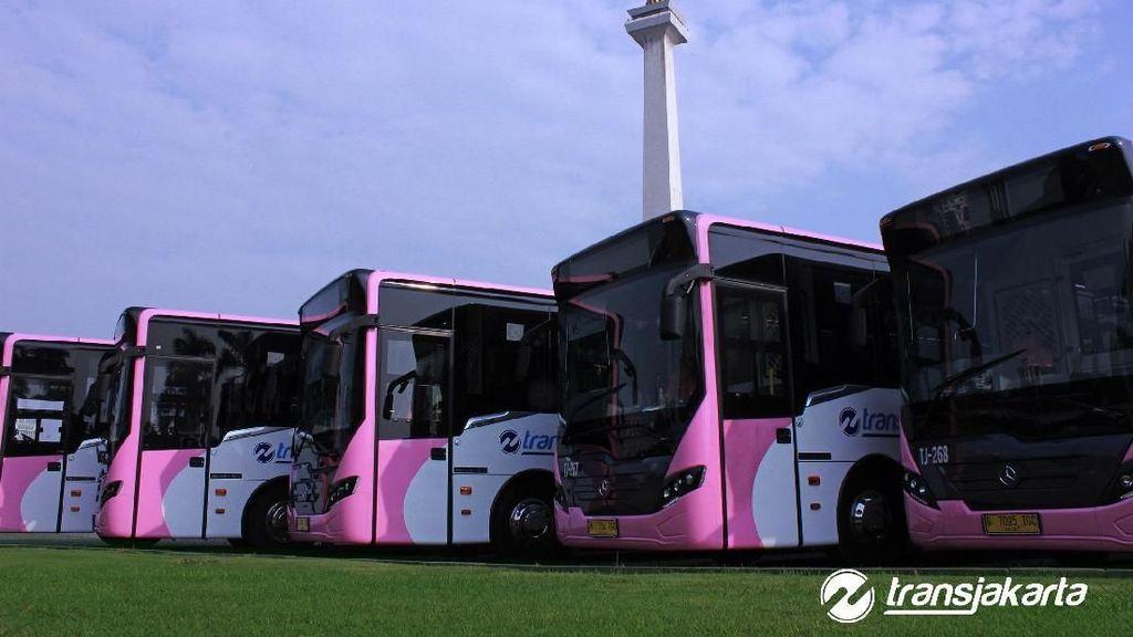 Si Bus Pink Transjakarta Khusus Perempuan