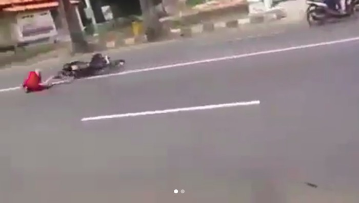 Viral! Ngebut untuk Setting Motor Berujung Kecelakaan