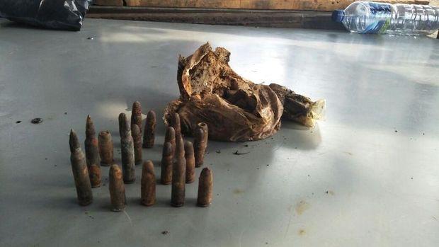 Belasan peluru akan diserahkan ke Polsek Jagakarsa besok