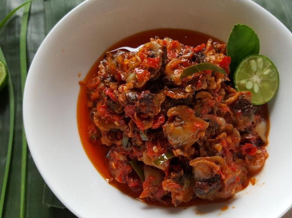 Menu Ke-14 : Olahan Seafood Enak, Udang Bakar dan Sambal Kerang Dara
