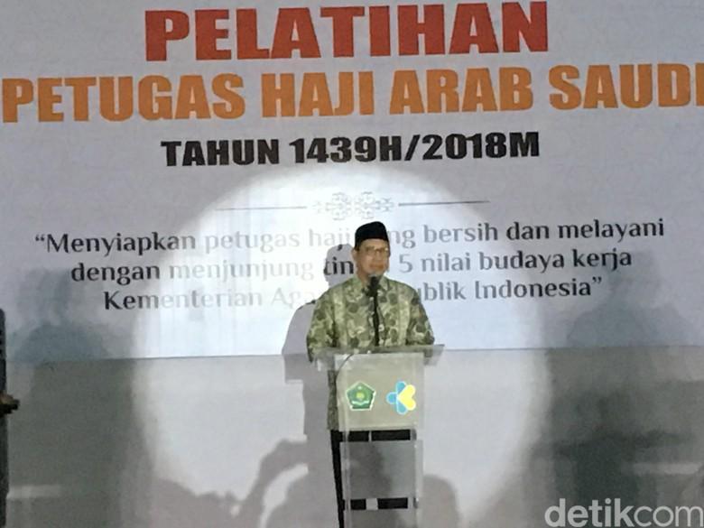 Menag Buka Pelatihan Petugas Haji 2018, Minta Total Layani Jamaah